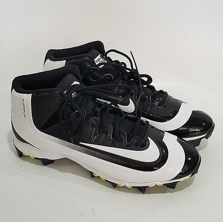 a6079f07c Nike Huarache BSBL Baseball Rubber Cleats Size 12 Black White CB7  Nike