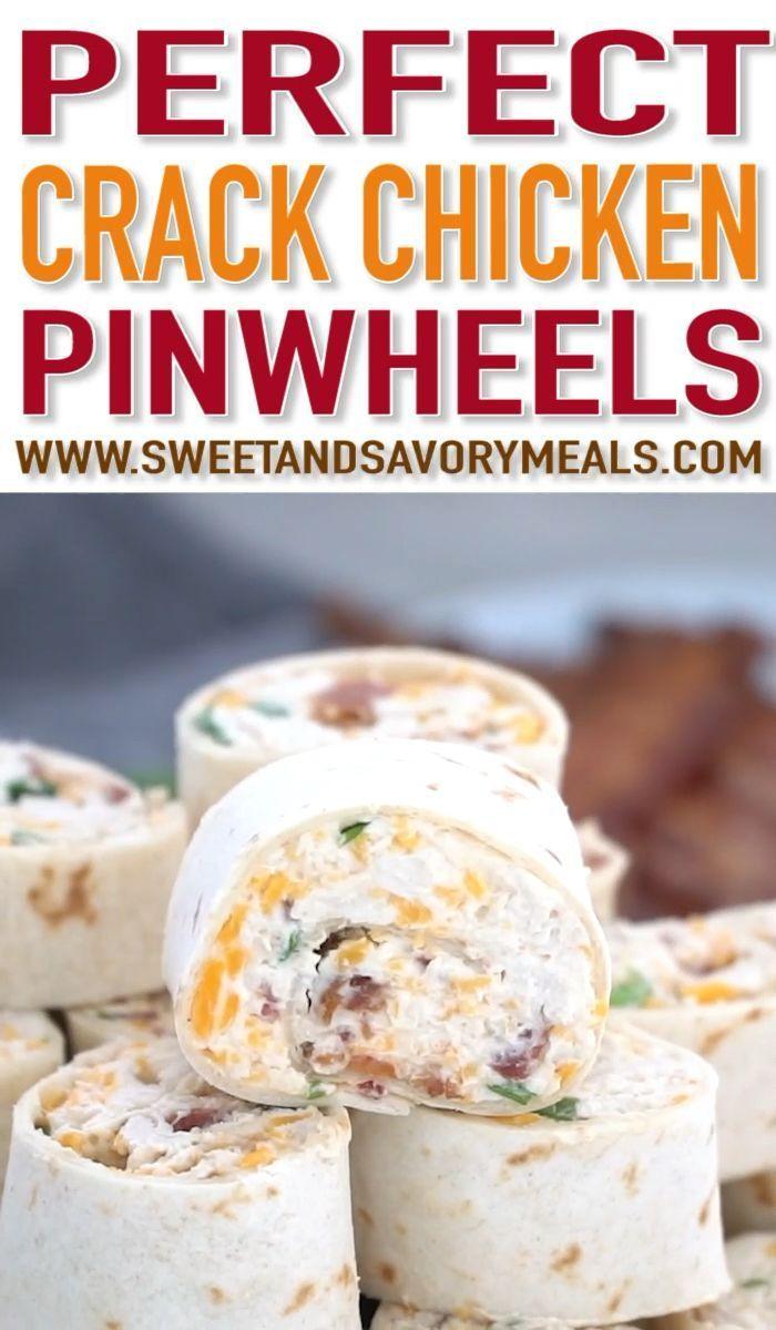 Bacon Cheddar Ranch Pinwheels (VIDEO) - süße und herzhafte Speisen Bacon Cheddar Ranch Pinwheels