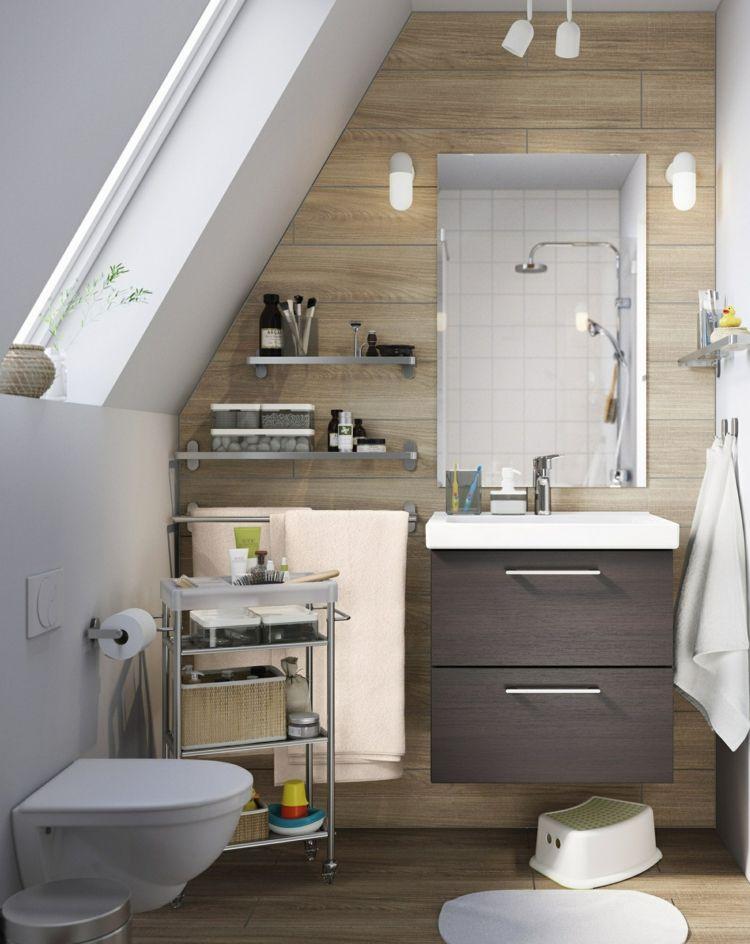 Gäste WC Ideen mit Dachschräge und Holzwand in 2019