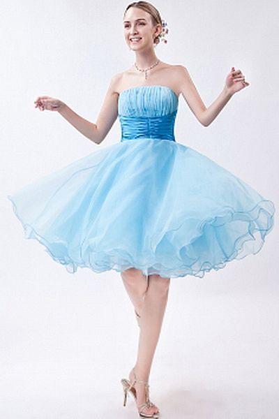 Blau A-Line Halfter Heimkehr Kleid kv0920 - Silhouette: A-Line ...