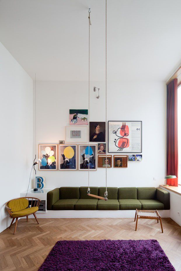 This inspiring live / work space in Berlin is as eccentric as its owner and architect, Jorg Ebers. The four-storey building devotes the upper two floors for residential use,...