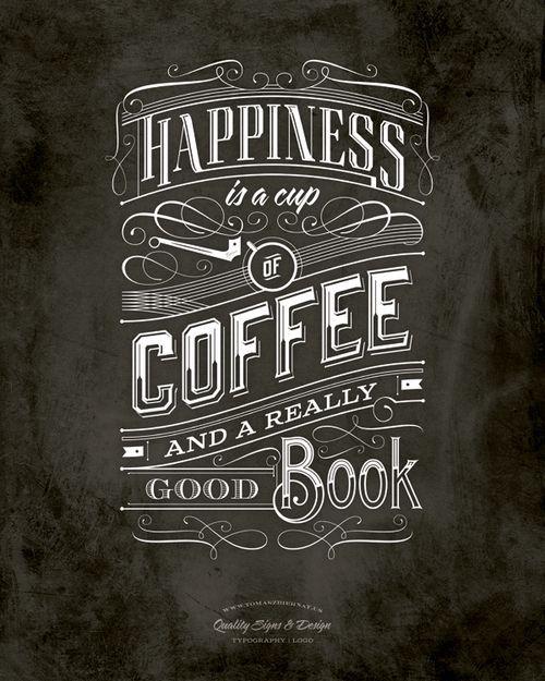Coffee Gráfico de época, Cafetería y Paredes negras - paredes con letras