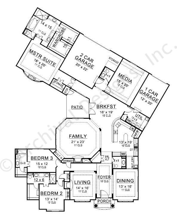 black rock house plan first floor plan elevation - Rock House Plans
