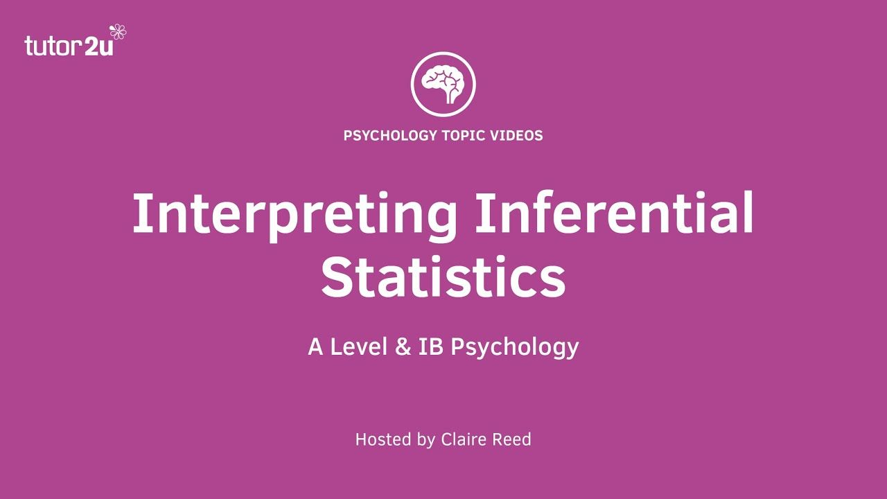 Research Methods Interpreting Inferential Statistics Research Methods Psychology A Level Psychology Revision