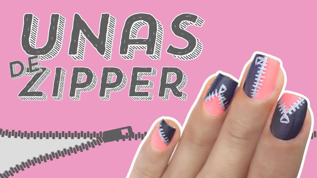Uñas de Zipper FACIL · TUTORIAL 💅🏼 | NAILS | Pinterest