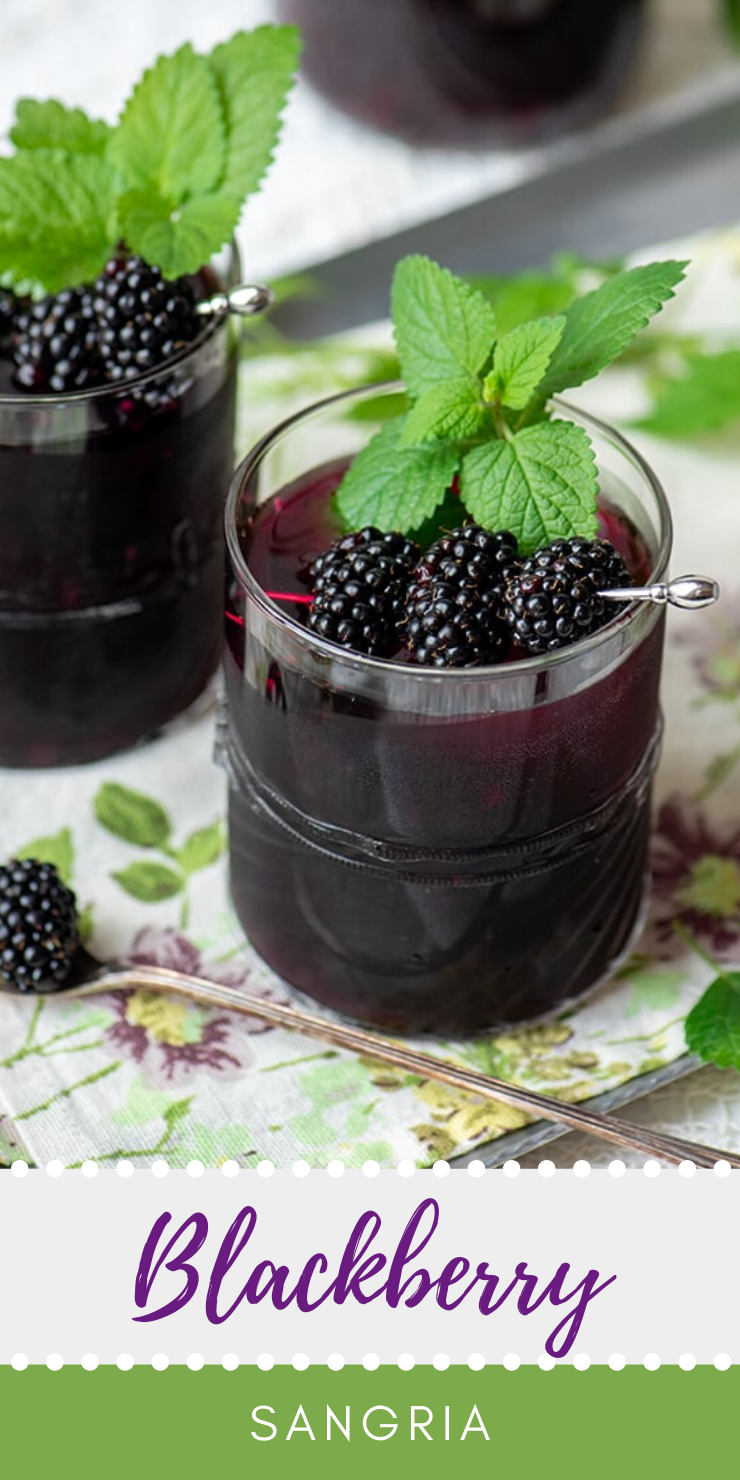 Easy Blackberry Sangria- Make a pitcher or a single glass!
