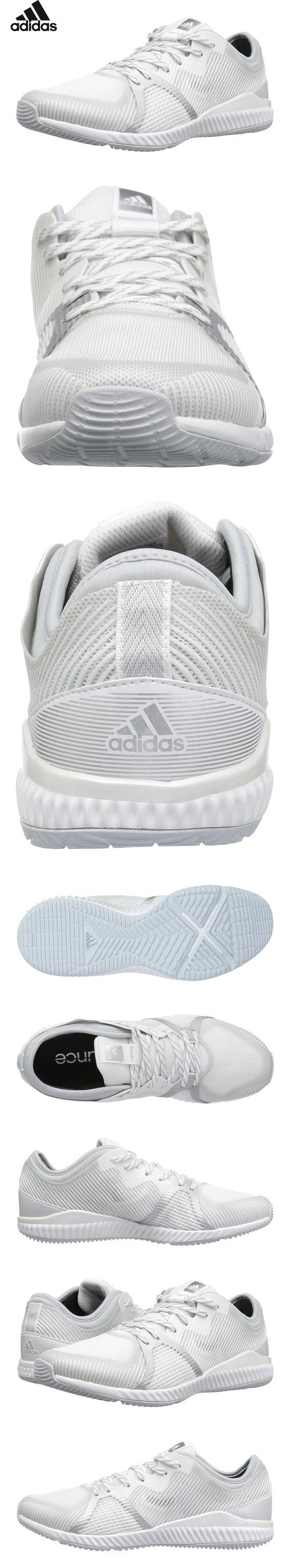 online store 4d311 9a36a  54.99 - adidas Performance Women s Crazytrain Bounce W Cross-Trainer Shoe,  White Metallic Silver Clear Grey, 7.5 M US