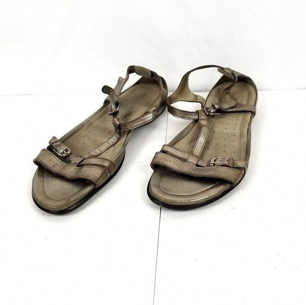9dc637bbf9d ECCO Womens SZ 11 Flash T Strap Metallic Silver Leather Comfort Casual  Sandals  fashion  clothing  shoes  accessories  womensshoes  sandals (ebay  link)   ...