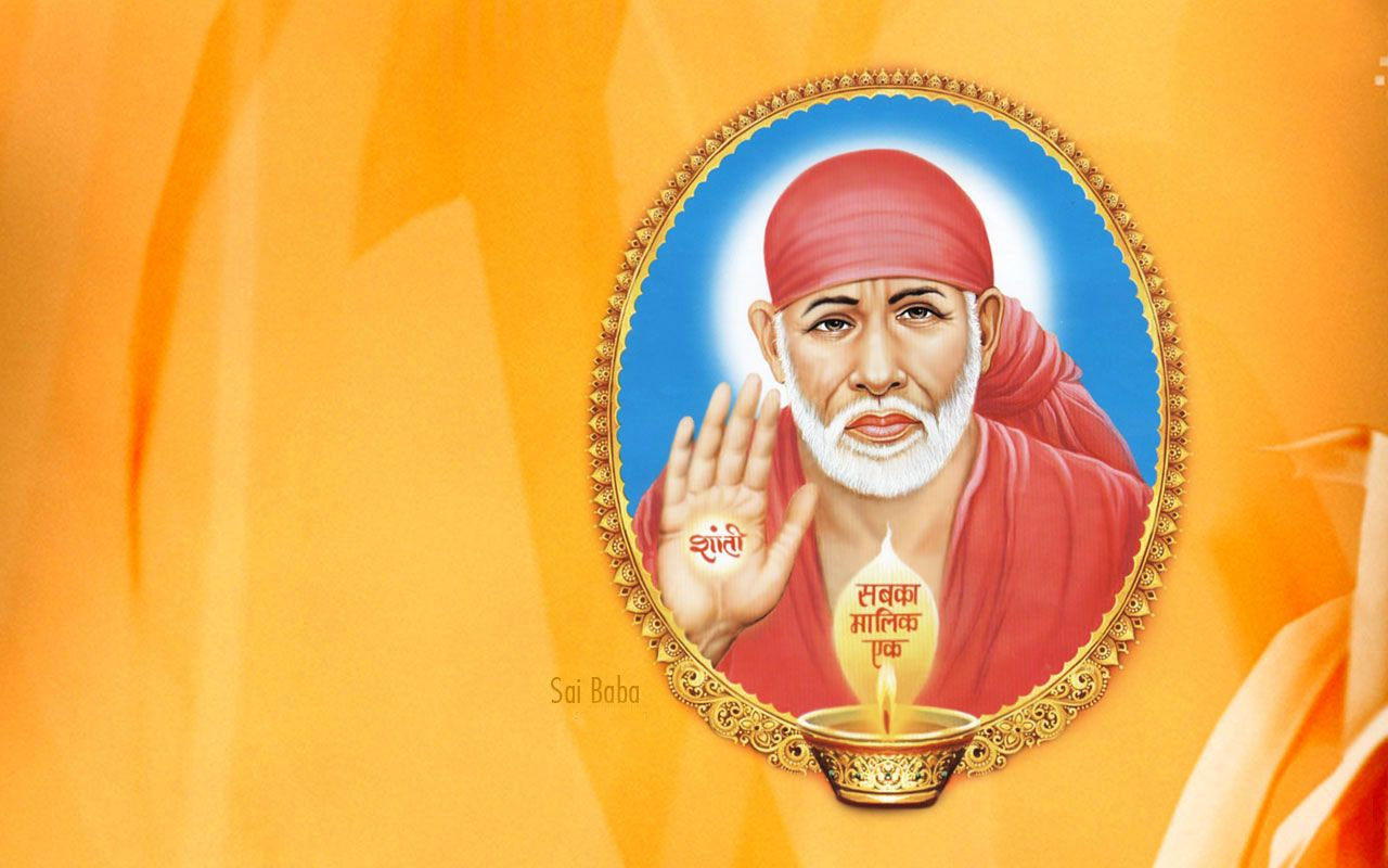 Sai Baba Hd Wallpapers For Desktop Download Baba Sai Sai Baba