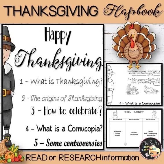 Thanksgiving Flapbook Mrs Recht S Classroom Thanksgiving