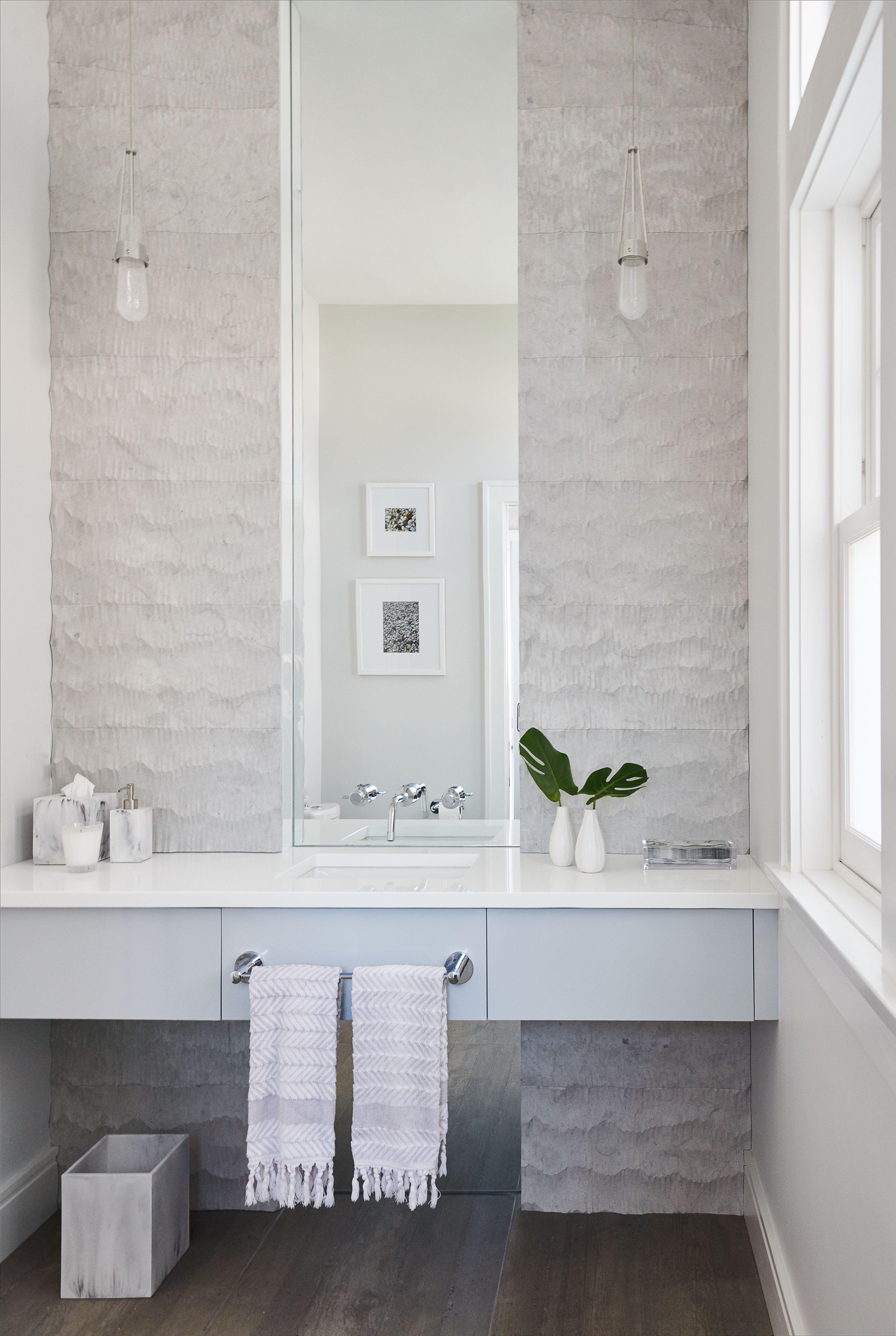 Powder Room With Floating Vanity Modern Powder Rooms Floating Vanity Bathroom Mirror Lights