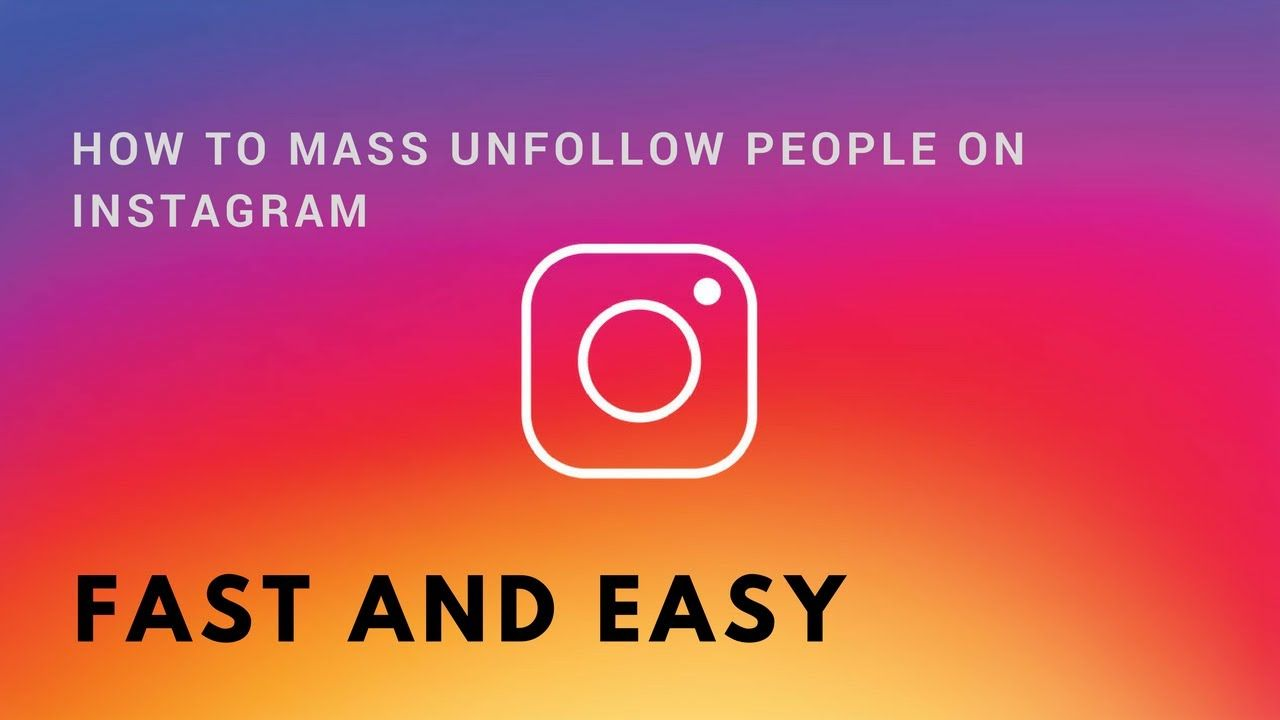 There is no particular way to mass unfollow on Instagram