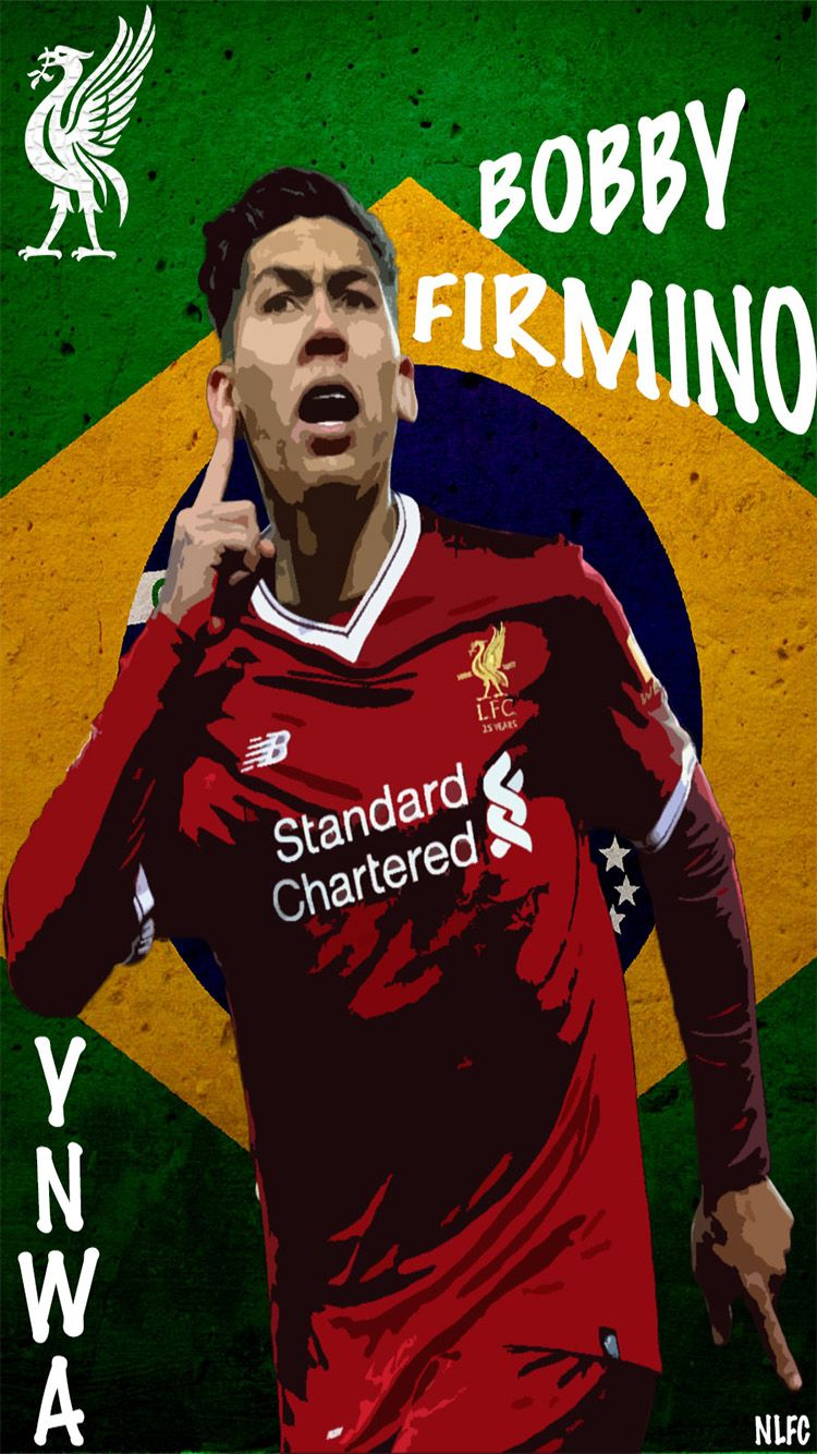 Cell Phone Wallpaper Of Liverpool Fc Player Roberto Firmino