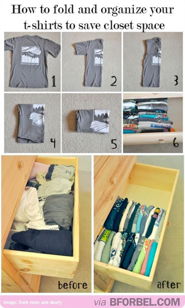 How To Fold T Shirts | Organization Hacks For Closet Space