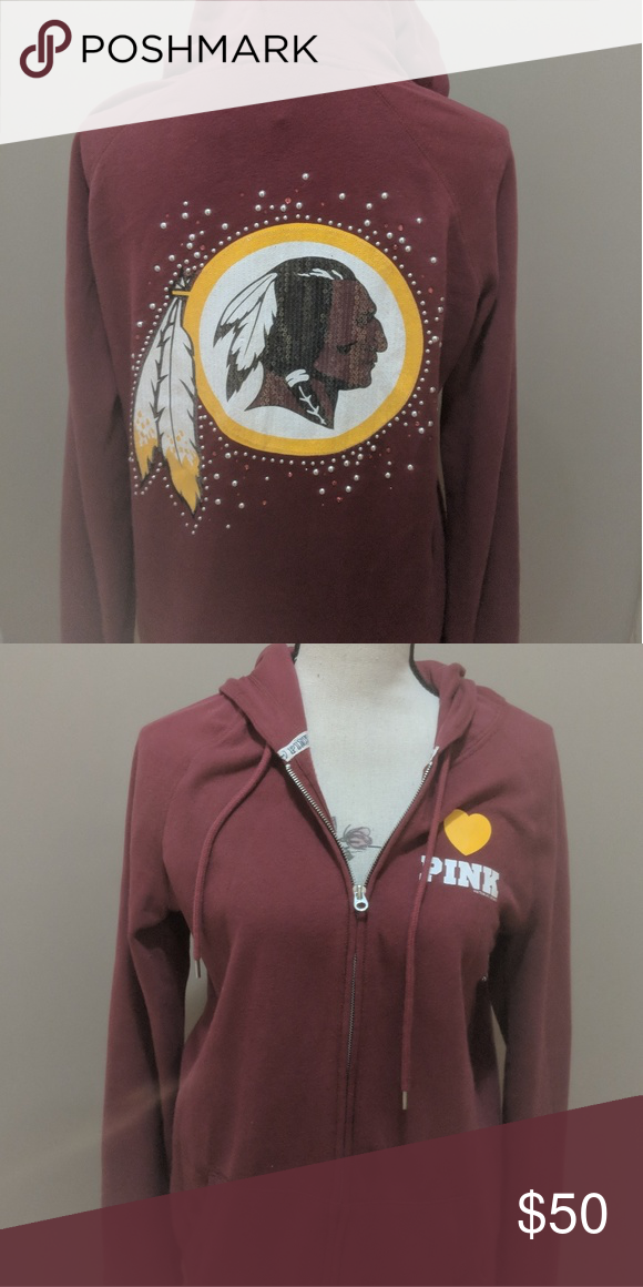 cd2e71133 Victoria's Secret NFL - Redskin Bling Hoodie - M Victoria's Secret PINK NFL  - Redskin Bling Hoodie- M Calling all Redskins fans show your team spirit  with ...
