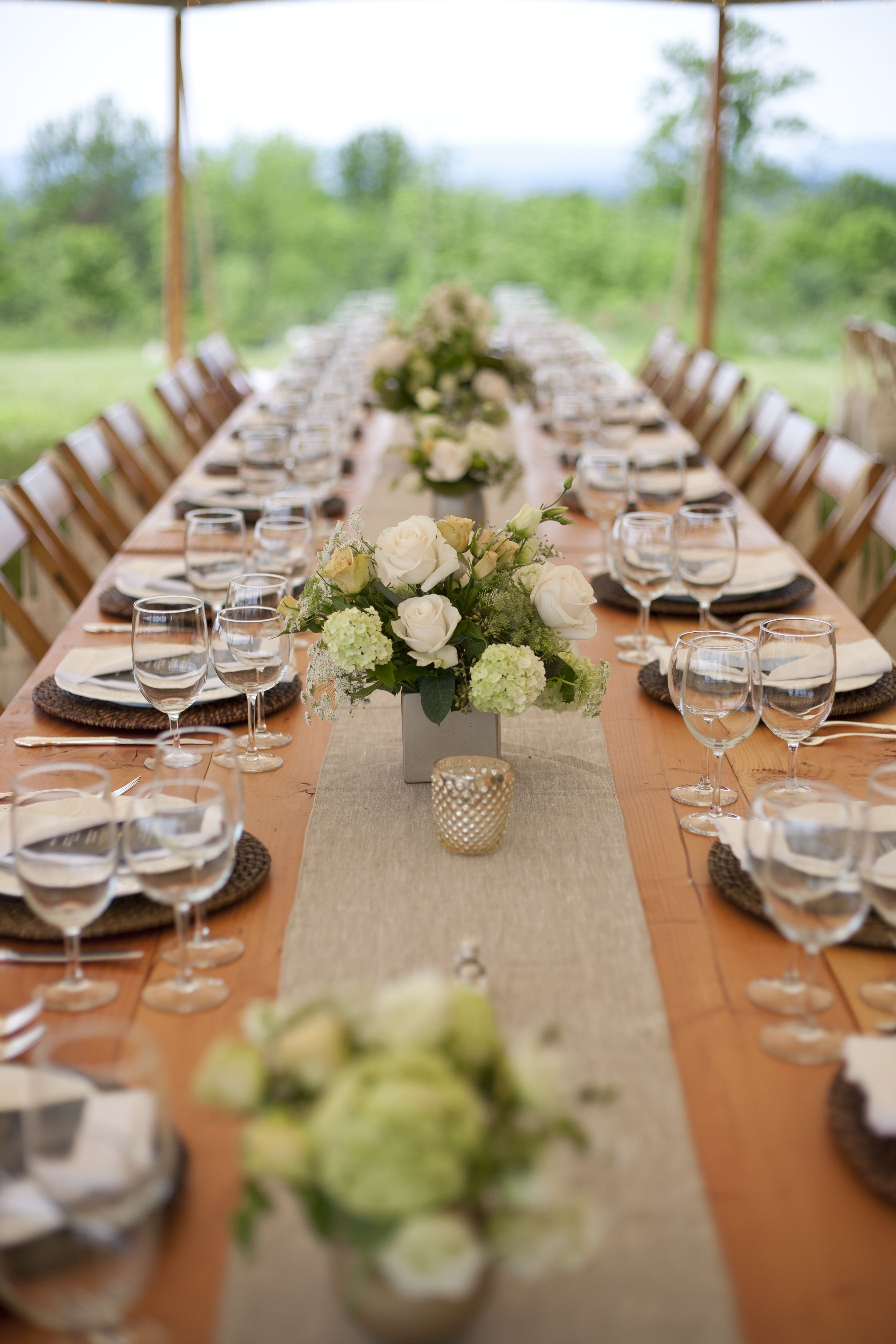 Table setting at the Virginia Field Feast in Middleburg VA