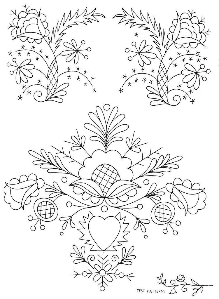 Peasant Folk Art Embroidery 4 | Vyšívanie | Pinterest | Bordado ...