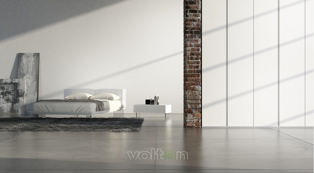 Camera da letto moderna bianca: letto Oplà con testiera e ...
