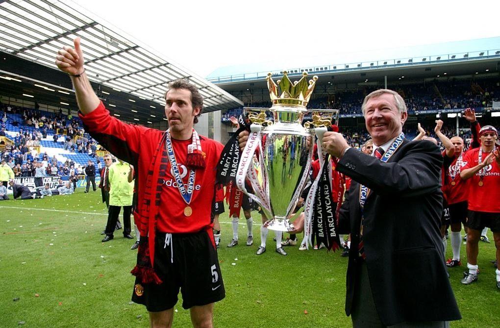 Laurent Blanc & Sir Alex Ferguson Manchester United