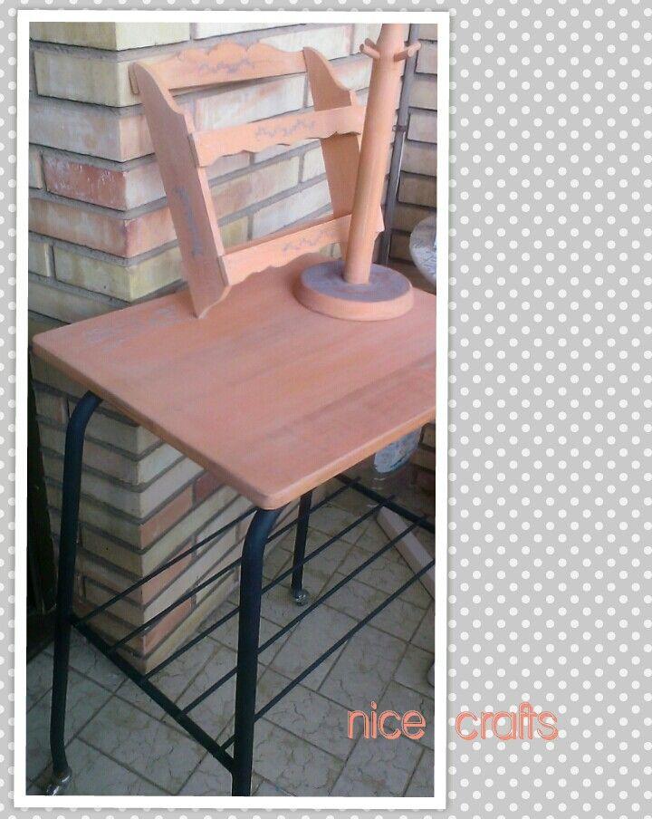 Pintura A La Tiza Naranja Envejecido Y Stencil Pintura A La Tiza Tiza Muebles