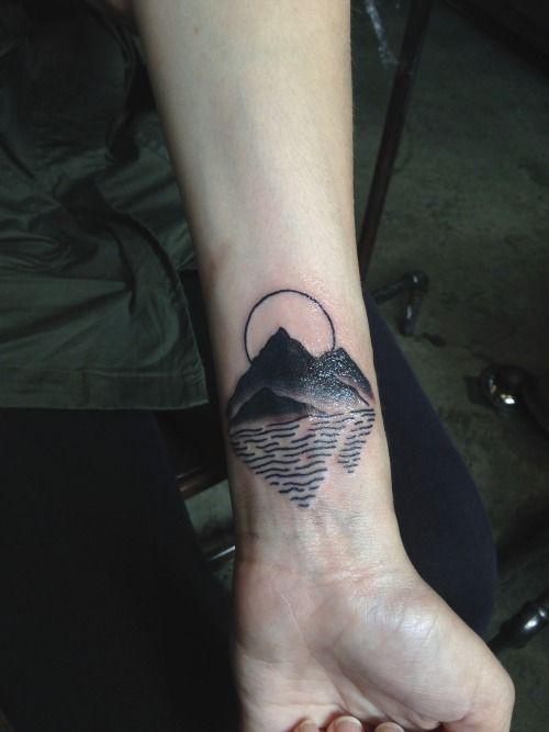 89e87b783 tattoo ideas mountain and sea tattoo mountain lake tattoos ...