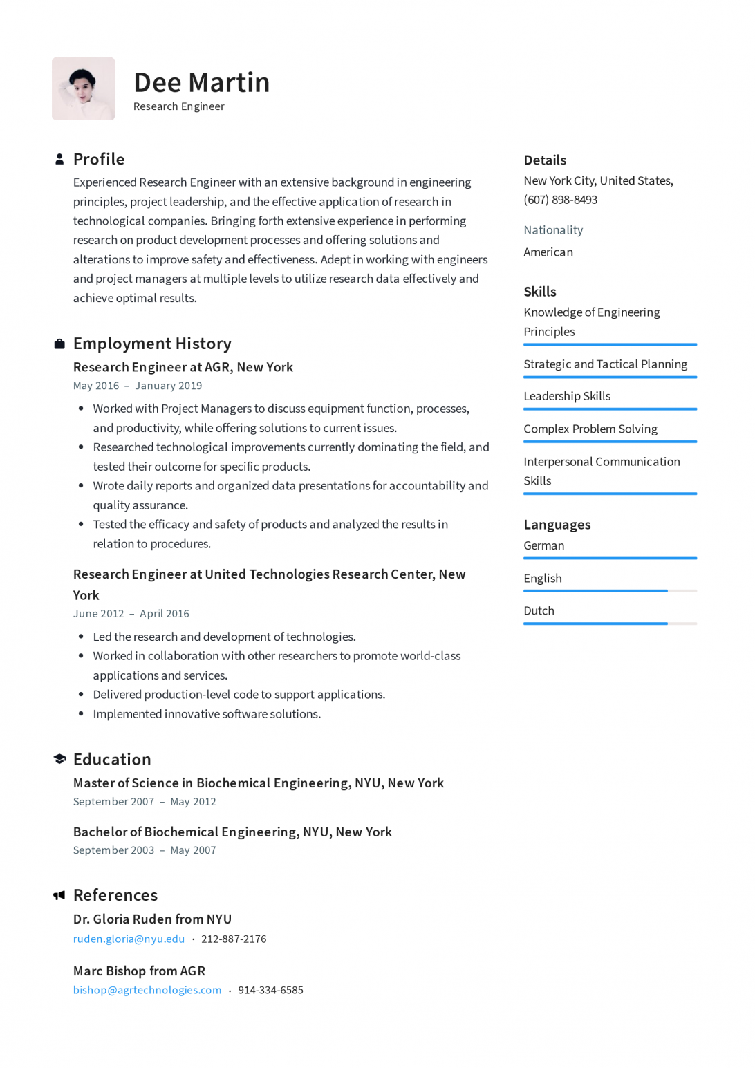 Professional Resume Templates Word Free Download in 2020