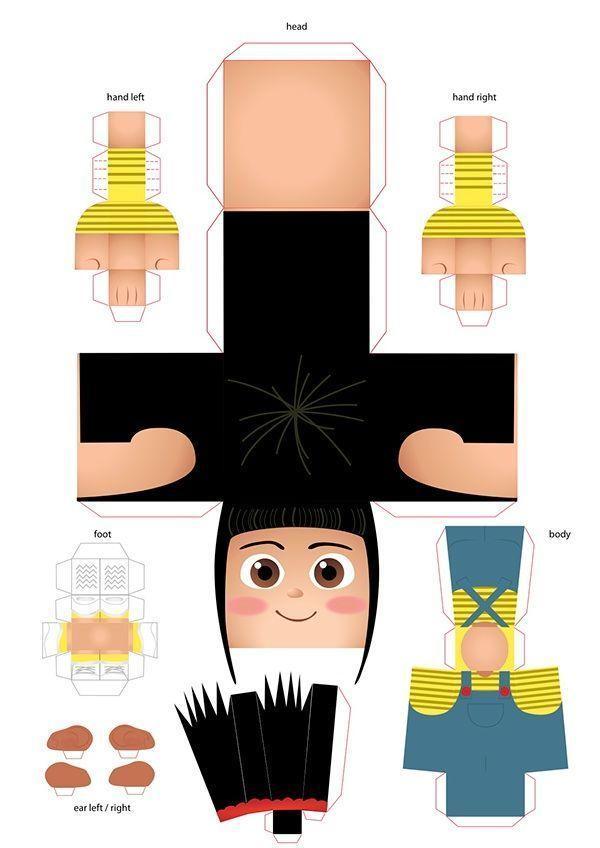 Papierspielzeug von Agnes von Despicable Me – #Agnes #Despicable #paper #toy – #…