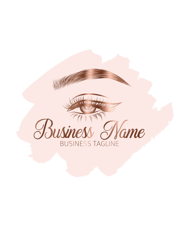 Brows Logo, Microblading Logo, Lashes Logo, Makeup Logo