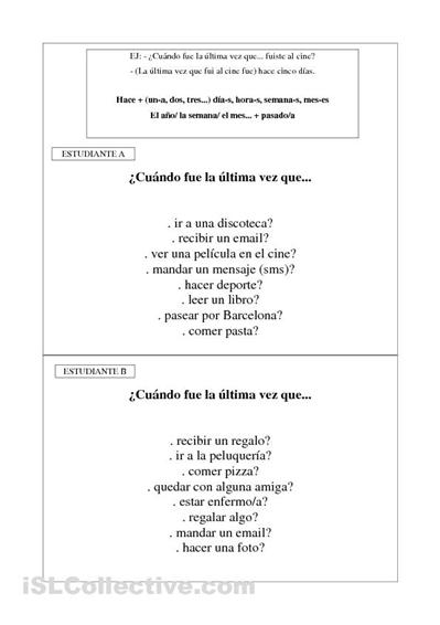 Preterito indefinido | ELE A2 | Pinterest | Español, Gramática y ...