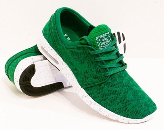 Footlocker réduction Finishline Nike Stefan Janoski Max Talons En Daim Vert recommander achats en ligne réel pas cher evWSli