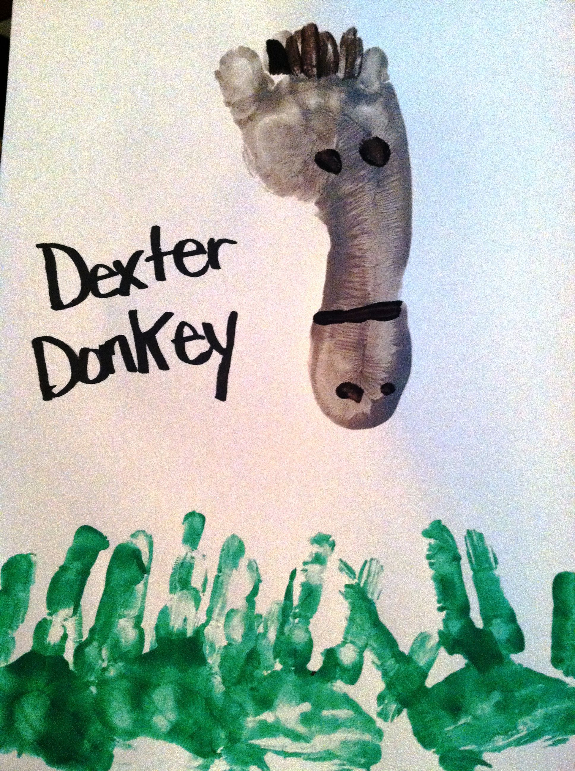 Donkey footprint | Hands and Feet - Arts and Crafts ...