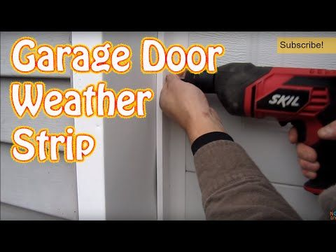 Diy How To Install Garage Door Weather Seal Winterize With