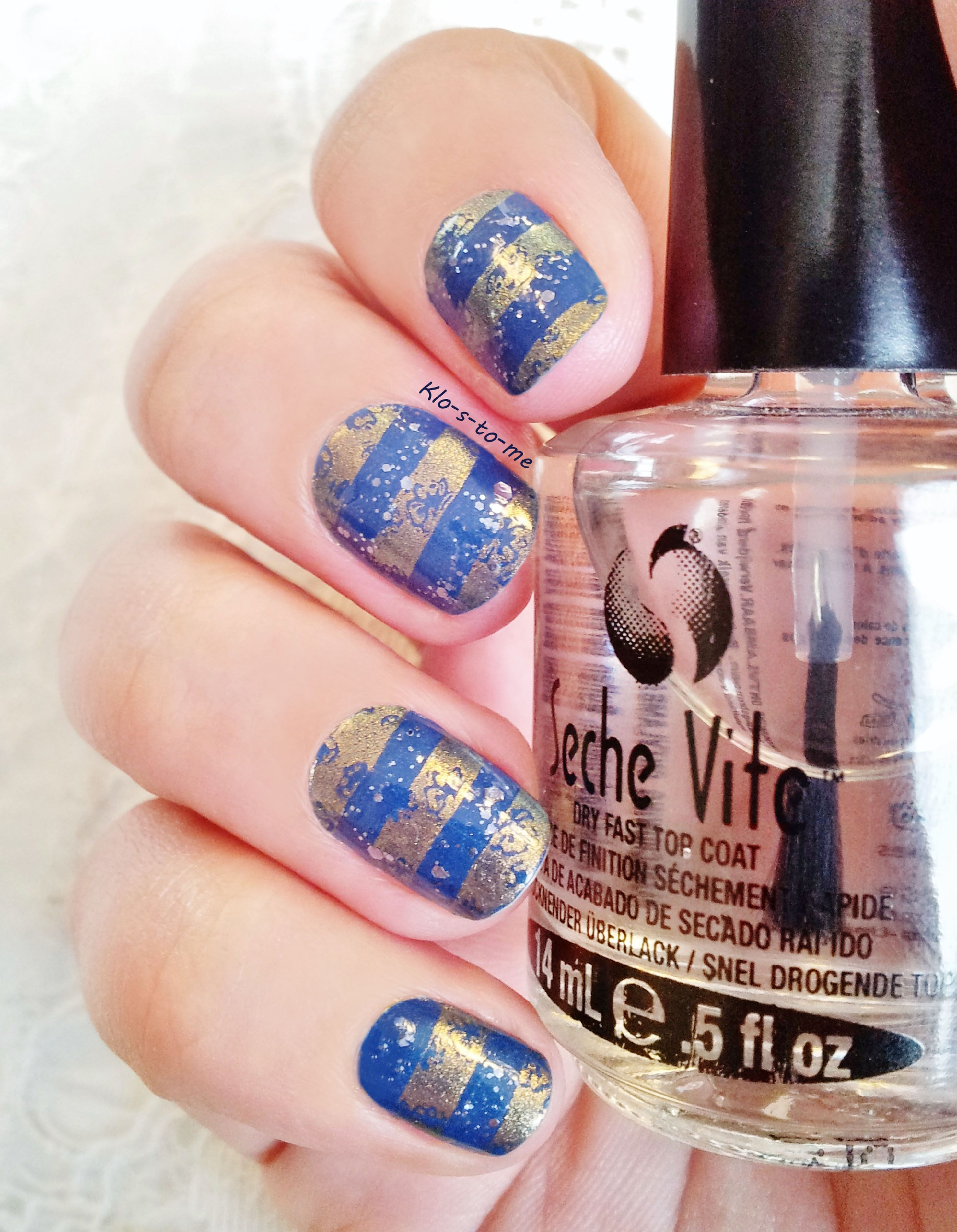 Blue and gold stamping - Mini Bourjois Fashion Show à New York n°87 ...