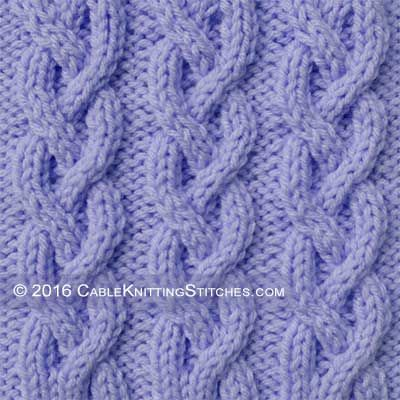 Knit Cable Stitch Pinterest : Cable Knitting Stitches   Braid Cable 2-2-2 Cable Knitting Stitches Pinte...