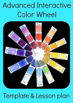 Advanced Interactive Color Wheel Middle High School Art Lesson Plan