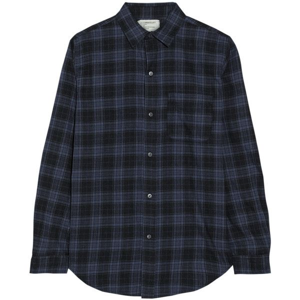Current/Elliott The Prep School plaid cotton-flannel shirt (2.240 ARS) ❤ liked on Polyvore featuring tops, shirts, flannels, plaid, preppy tops, preppy shirts, flannel tops, cotton plaid shirt and tartan top