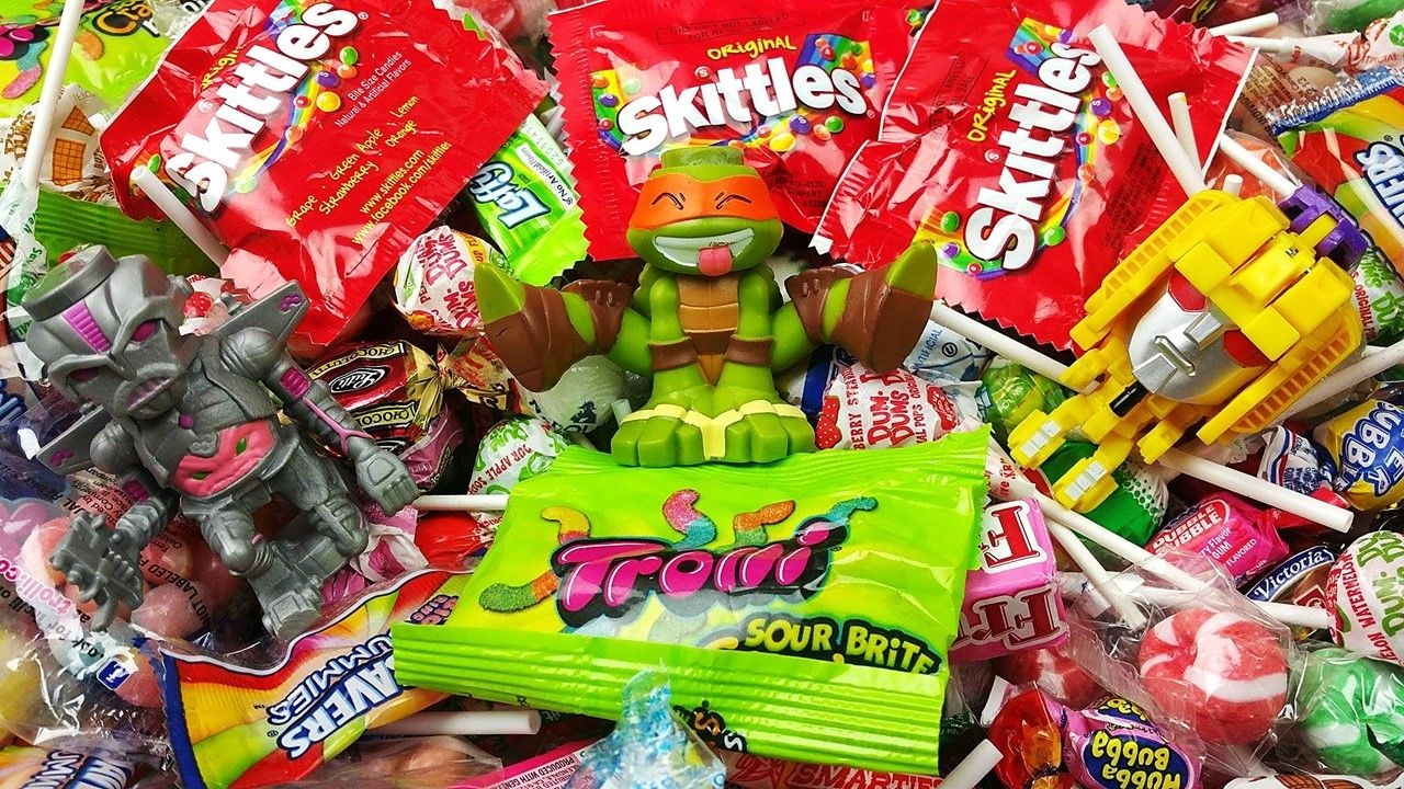 Learn Colors with A lot of New Candy Ninja Turtles Surprises ...