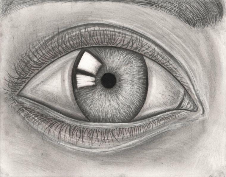 Disegni A Matita Facili Focus Occhio Umano Pupilla Iridi Ciglia