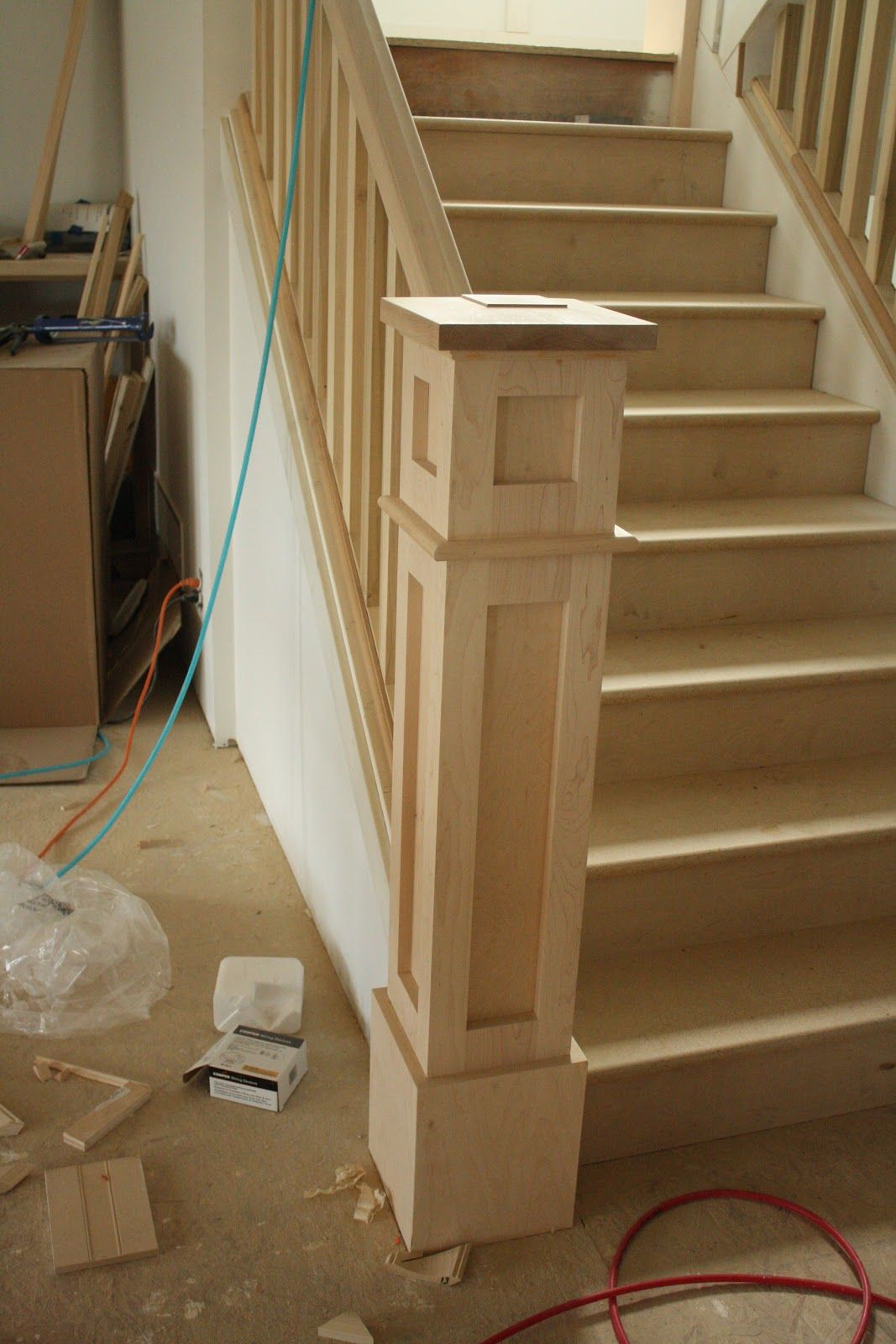Best Attractive New Newell Post Added During A Remodel Stair Remodel Staircase Remodel Home 400 x 300