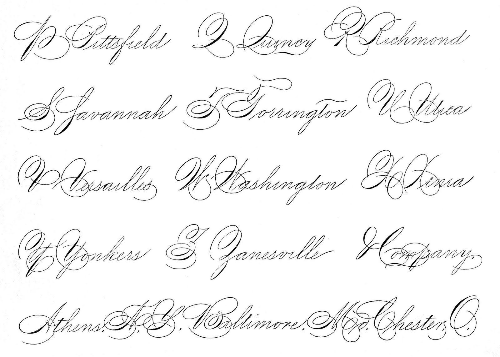 Spencerian Saturday Pen Flourished Words Calligraphy Penmanship