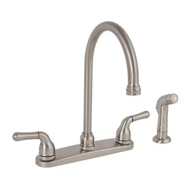 Premier Faucet�Sanibel Brushed Nickel 2-Handle High-Arc Kitchen Faucet with Side Spray