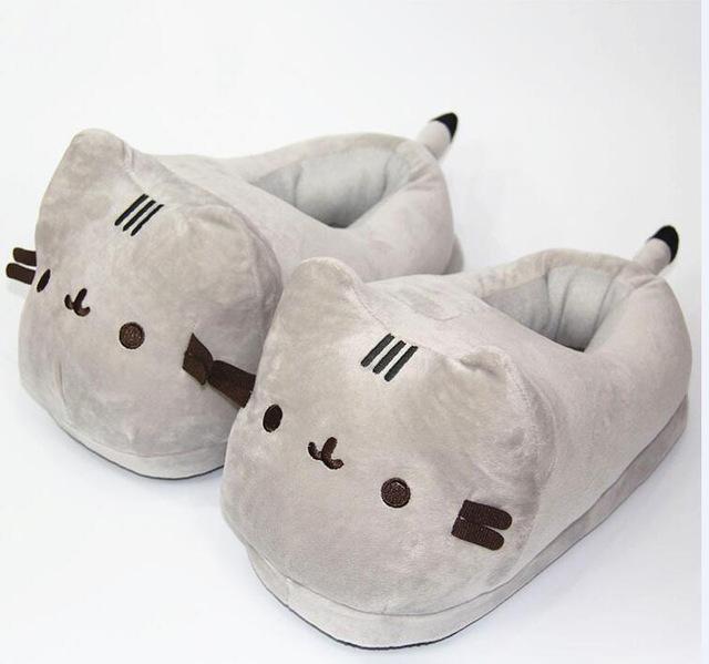 cd53fc93584 Pusheen Cat Plush Slippers - Large (US 8-10)