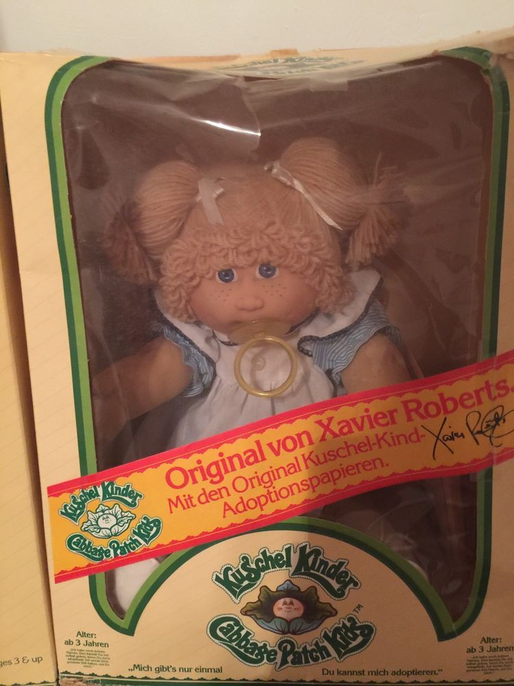 1984 Vintage Cabbage Patch With Xavier Roberts Signature From Germany Vintage Cabbage Patch Dolls Cabbage Patch Babies Cabbage Patch Kids