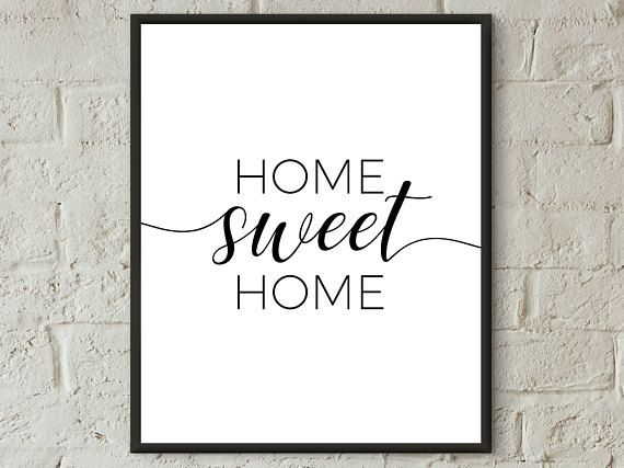 Home Sweet Home Printable Hallway Art Home Decor Prints Family Etsy Home Entrance Decor Quote Prints Family Room Wall Art