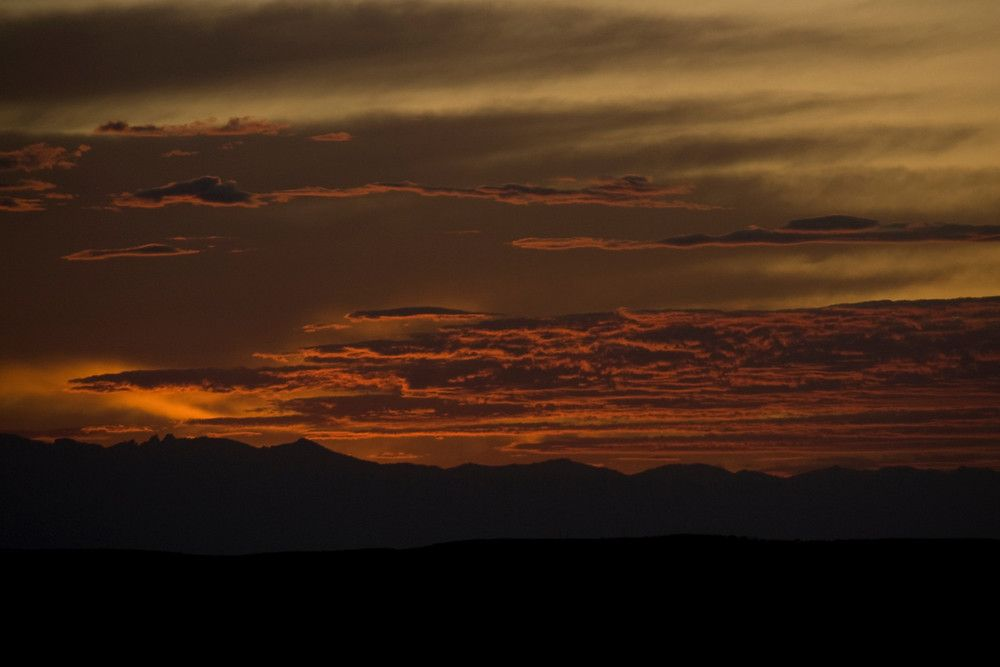 Sunset in the Big Horn Mountains, Wyoming