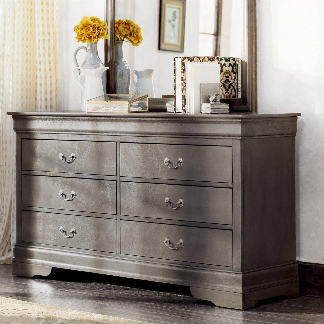 Corbeil 6 Drawer Double Dresser Furniture Bedroom Furniture Dresser Dresser Drawers [ 1086 x 1086 Pixel ]