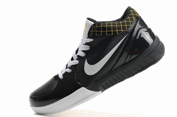 05cb2125fab6 Nike Zoom Kobe 4 (IV) black white yellow