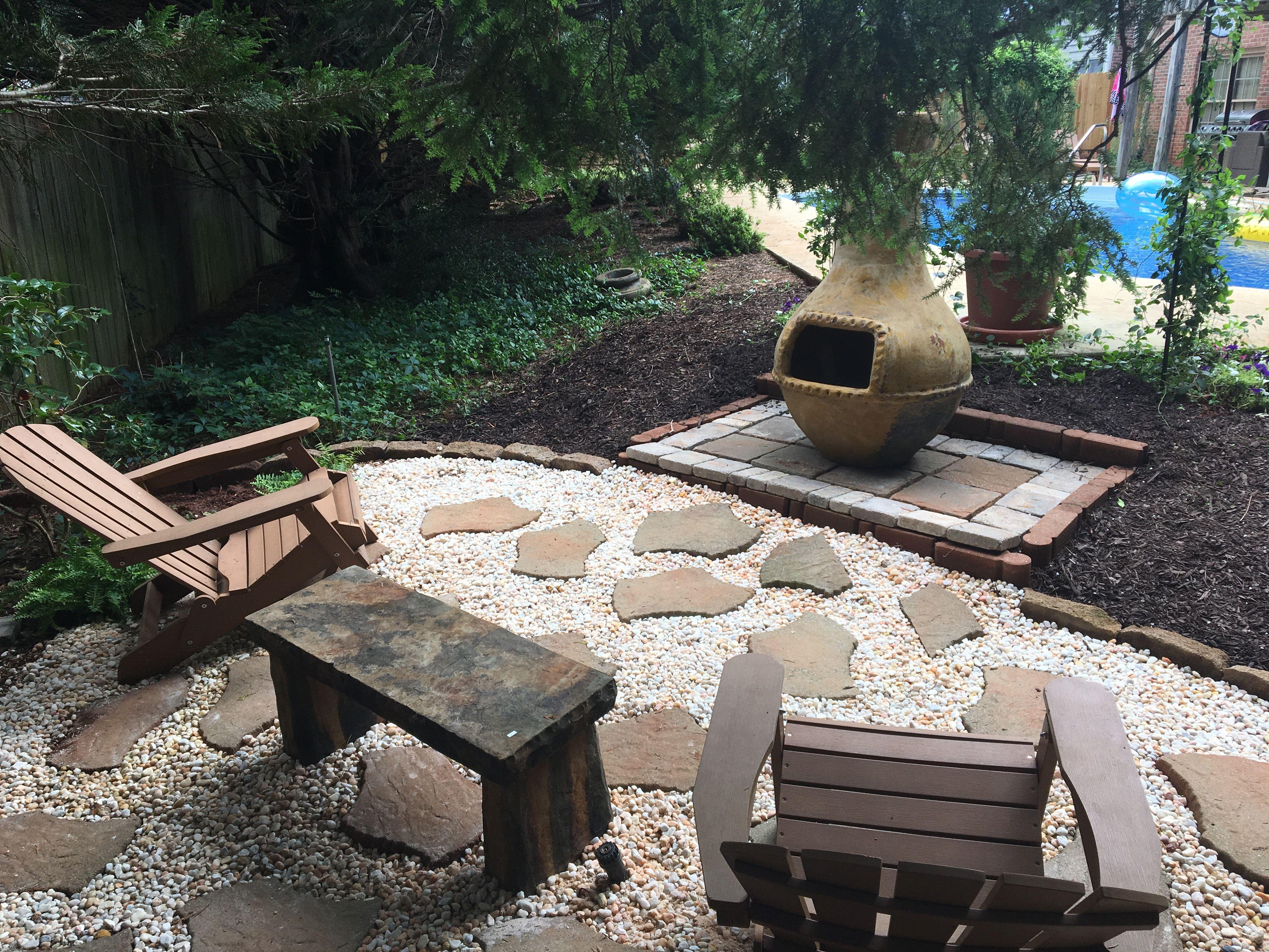 Backyard project. Do it yourself patio.