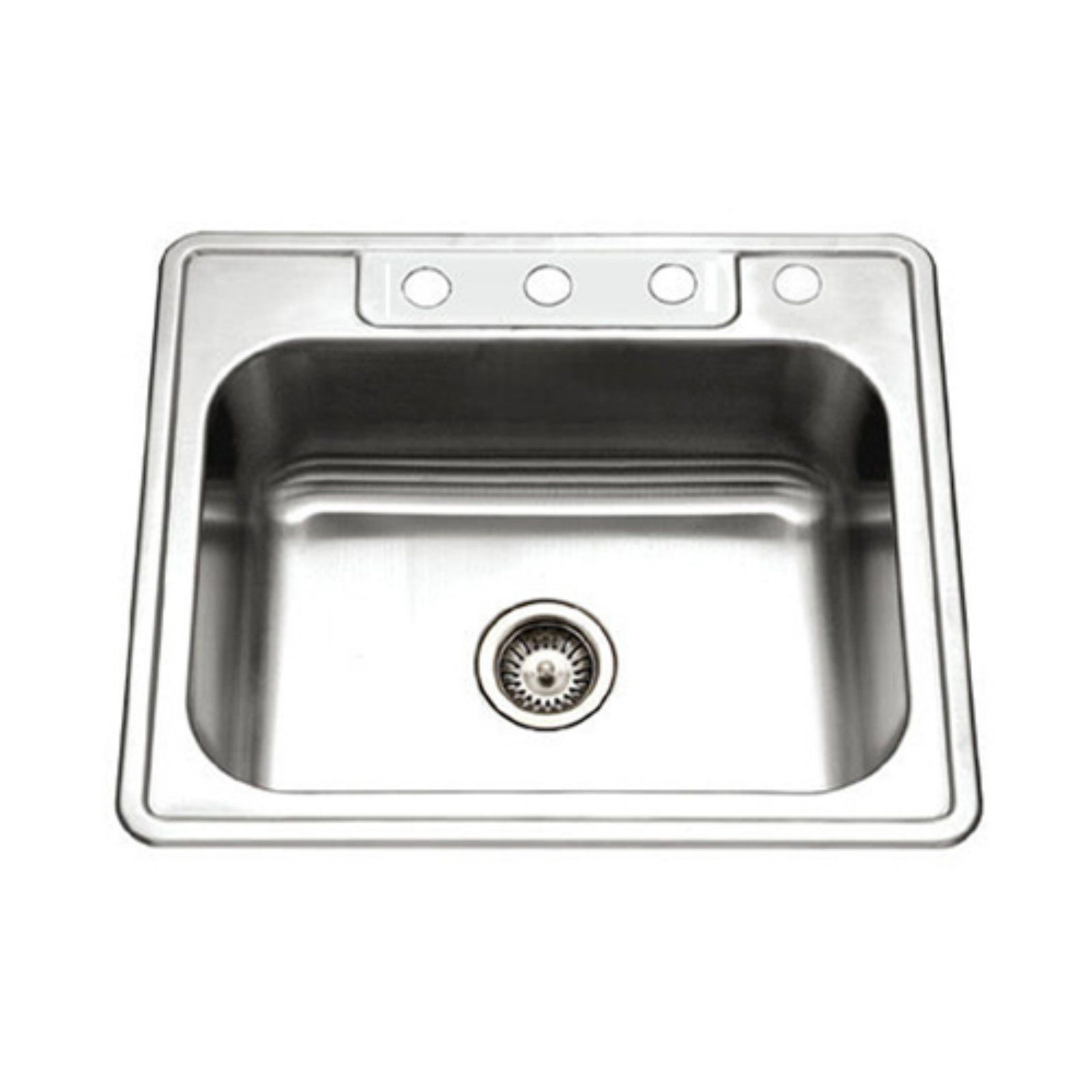 Houzer Glowtone 2522 8bs4 1 Single Basin Drop In Kitchen Sink