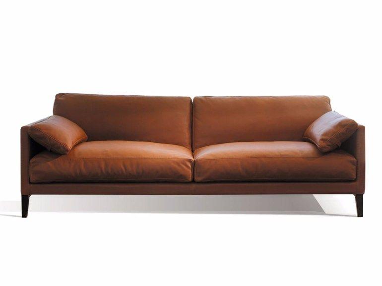 Gepolstertes 3 Er Sofa Aus Leder Centquatre 3 Er Sofa Canapes Duvivier Sofa Wohnen Wohnideen